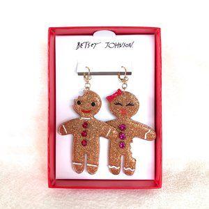 Betsey Johnson Gingerbread Earrings